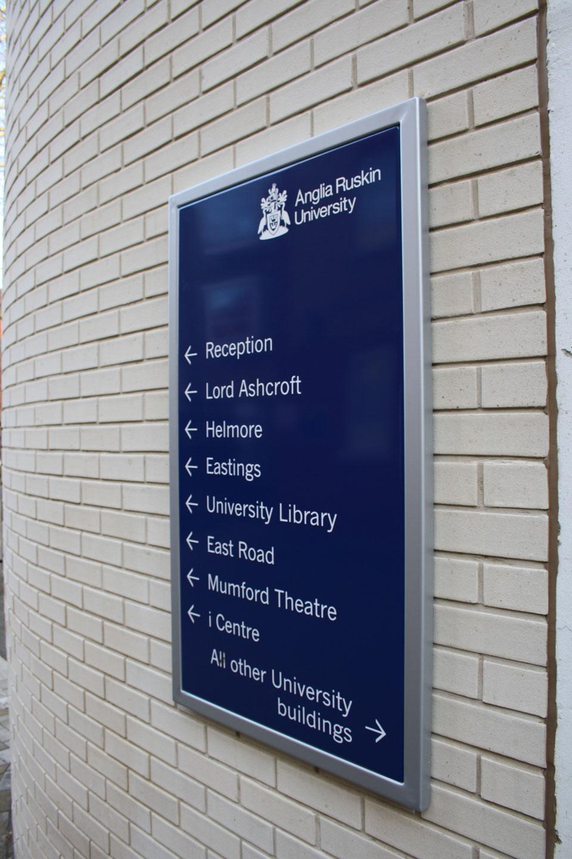 Anglia Ruskin University - Directional Signage