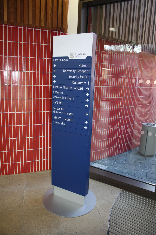 Anglia Ruskin University - Internal Signage