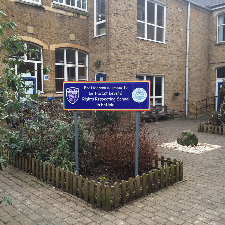 Brettenham School Entrance and Building Identity