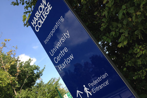 Harlow College Wayfinding Signage