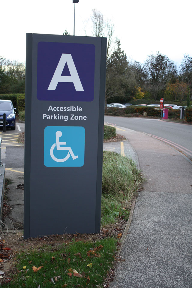 Healthcare traffic and pedestrian signage
