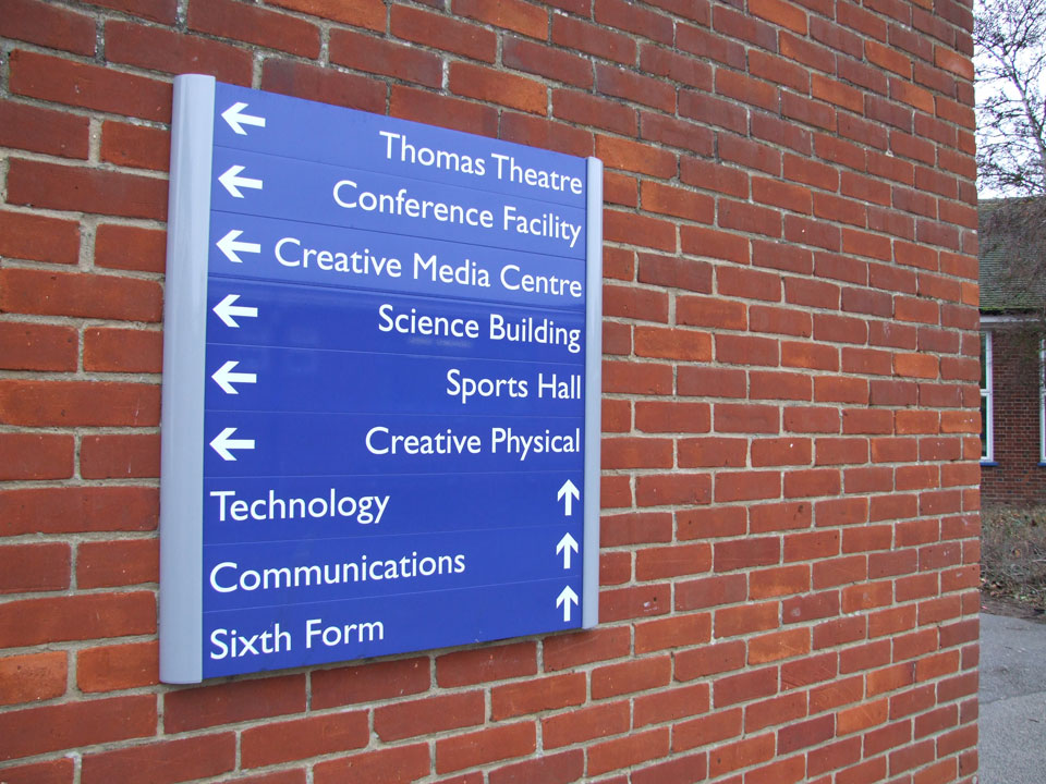 Kesgrave High School Directional Signs