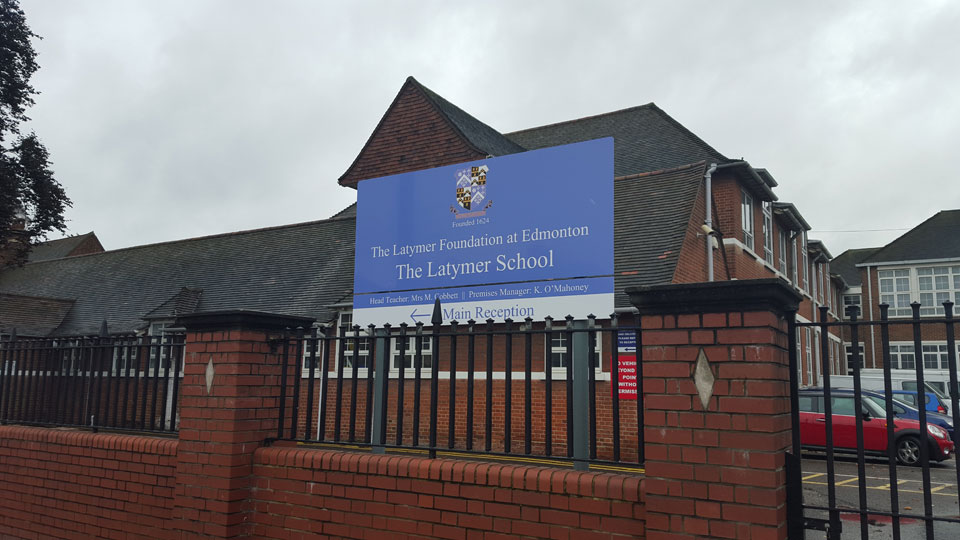 Latymer School Entrance and Building Identity