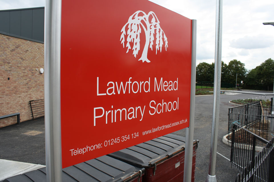 Lawford Mead Primary School Entrance and Building Identity