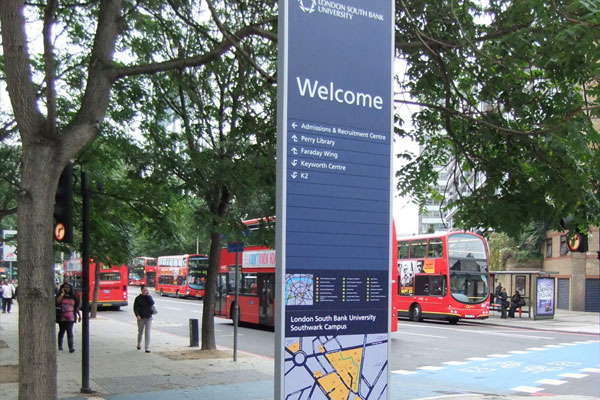 London Southbank University Campus Map