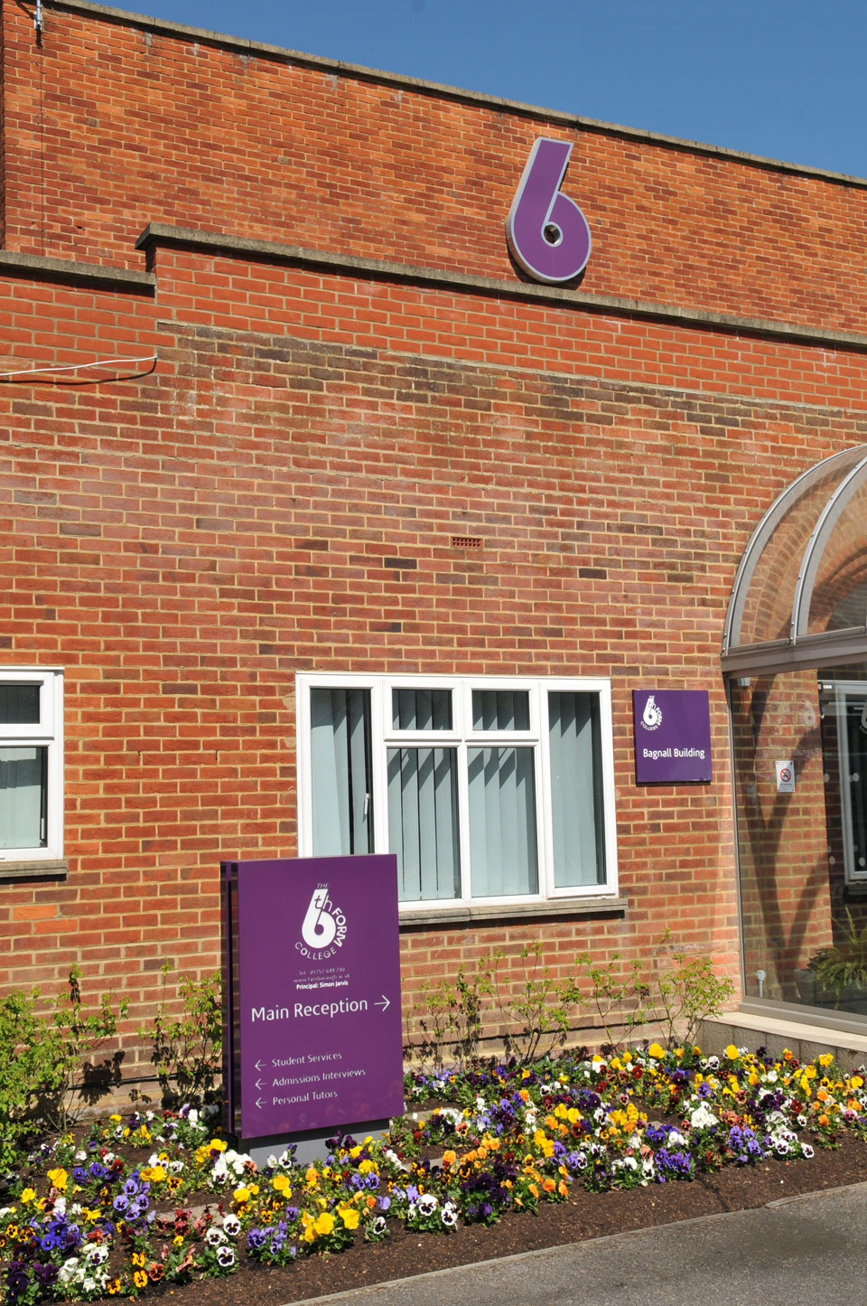 The 6th Form College Entrance and Building Identity