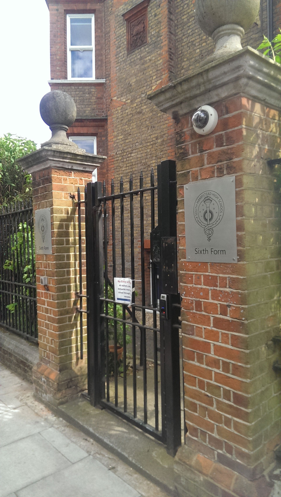 South Hampstead High School Entrance and Building Identity