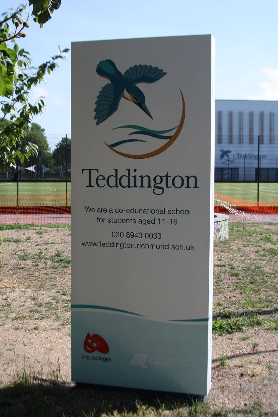 Teddington Entrance and Building Identity