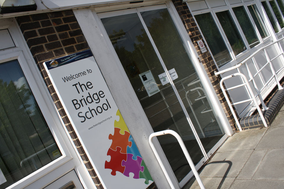 The Bridge School Entrance and Building Identity