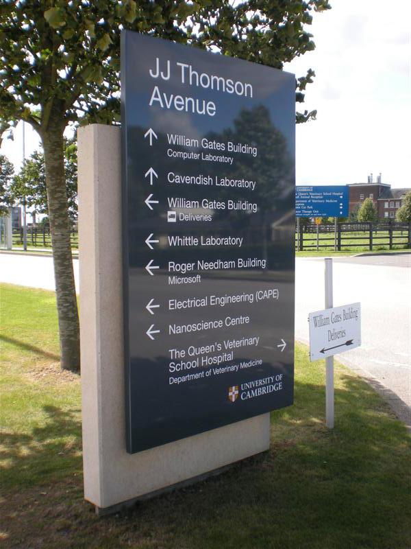 University of Cambridge - Directional Signage