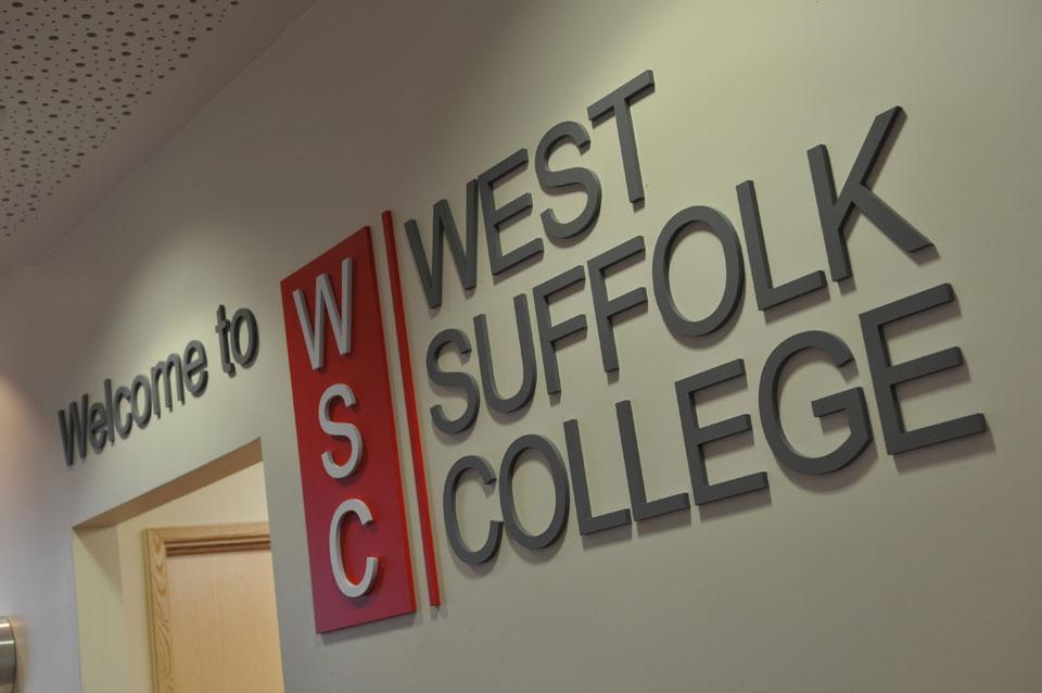 West Suffolk College - Internal Signage
