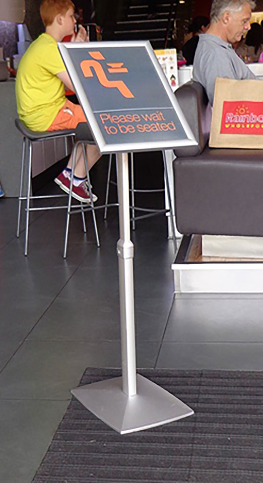 Paper Brochure Displays - Portland Menu Stand