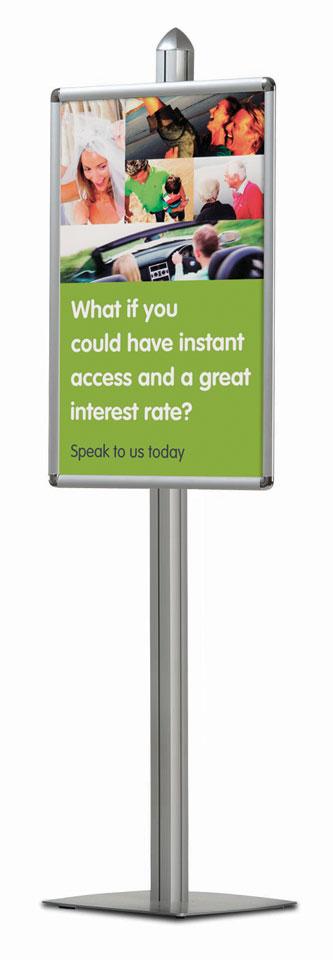Paper Brochure Displays - Budget Pole System