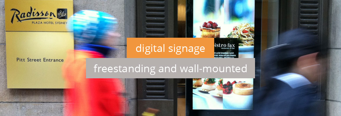 Digital Signage - Freestanding and wall-mounted digital display products