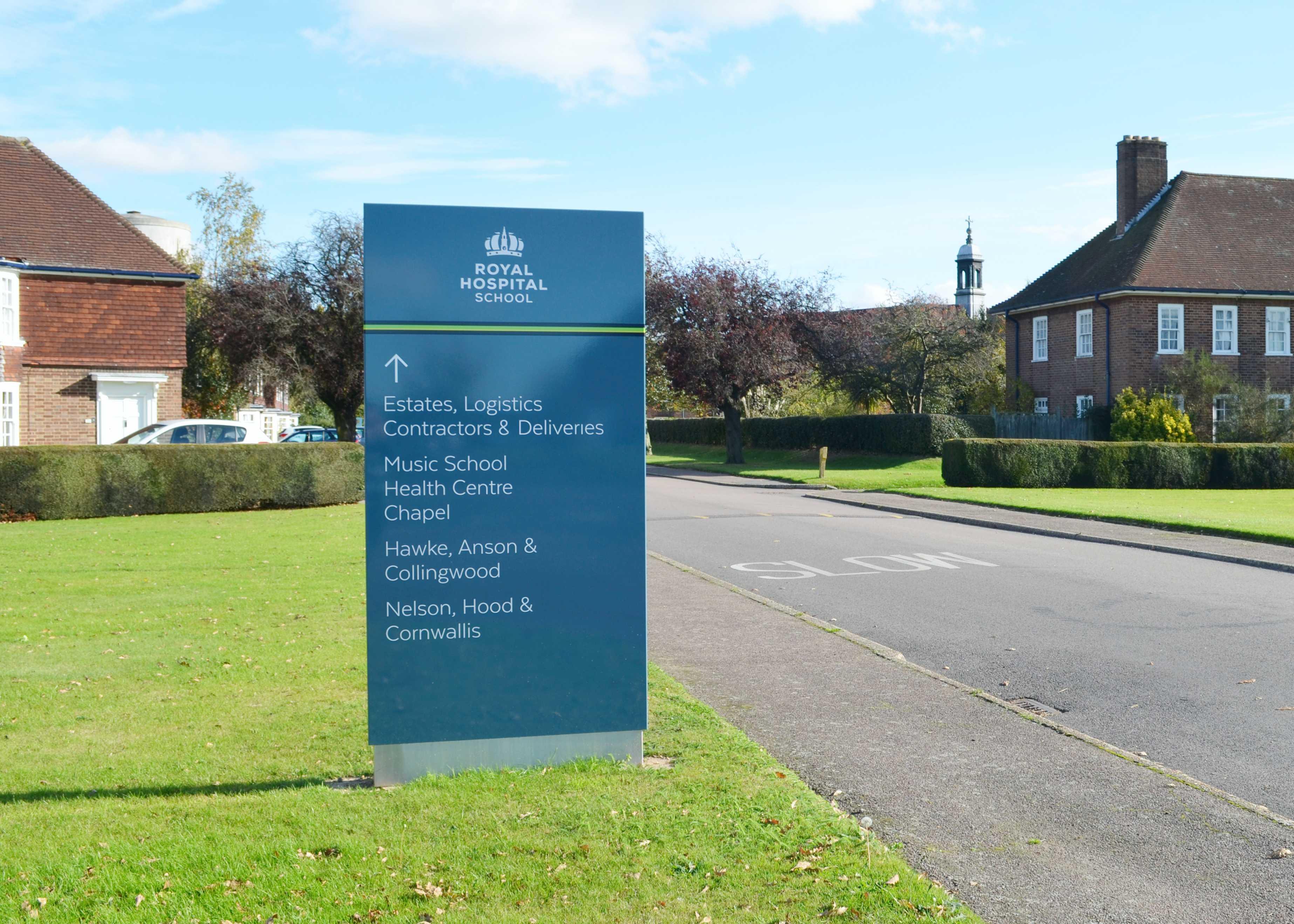 External Wayfinding For Schools M 246 Del Signage Ltd